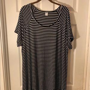 Old Navy Striped Swing Dress